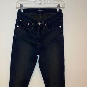 "J Crew jeans 9"" high rise dark blue size 27"